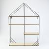 Metalen Rek huisje 4 houten leggers